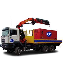 Camión con grúa hasta 15 m. de alcance