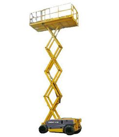 Plataforma de tijera eléctrica hasta 12 m.