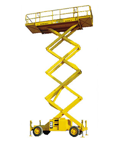 Plataforma de tijera diesel hasta 12 m. SX (plat. larga)