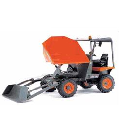 Dumper hidráulico autocargable de 2.500 Kg. descarga giratoria 4x4