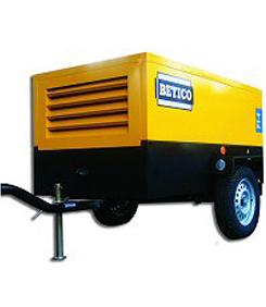 Compresor diesel de 8.300 l/min a 12 Bar.